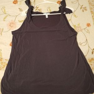 Charcoal colored tank top